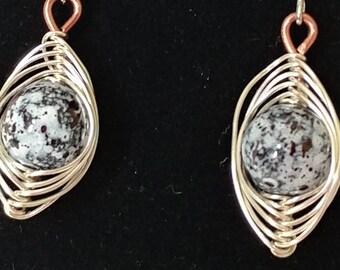 Copper Moon Earrings