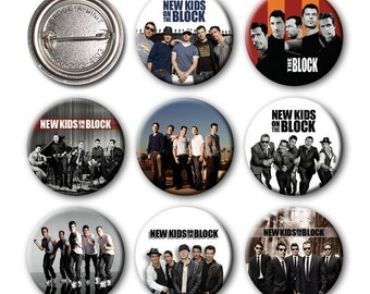 New Kids on the Block - NKOTB - Pinback Buttons (set of 8) no.3