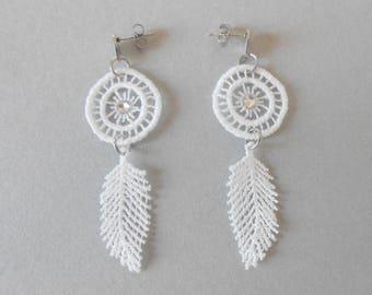 Lace dreamcatcher earrings