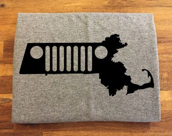 Massachusetts Jeep Shirt