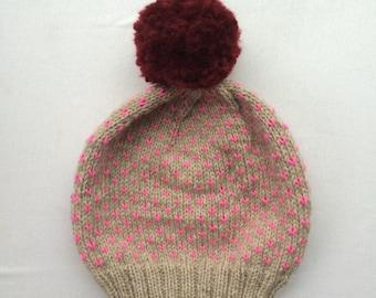 Shocking Pink Speckle Hat