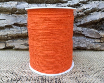 Burlap Cord String Orange, 400 YARD ROLL, Natural Jute Twine - May Arts Orange, Spring, Easter, Summer, Halloween, Packaging String