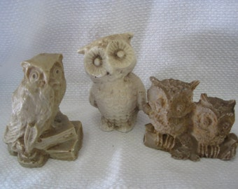 Instant Collection of Vintage Owl Figurines