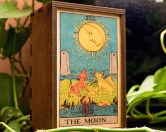 Tarot Cards Box The Moon Stash Box The Moon Tarot Treasure Box Tarot The Moon Mindfulness Gift The Moon Spiritual Gift (14019MB)