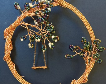 Copper Wire Tree and Swing