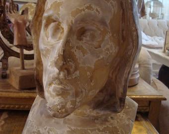 Vintage Shabby Religious Saint Head Bust Chic Religious
