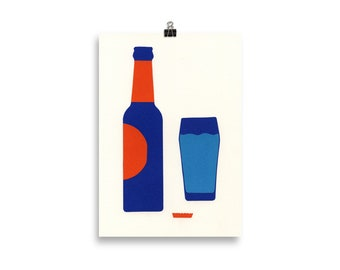 Art Print – Bottle And Glas