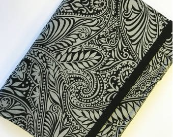 Kindle Paperwhite Cover, Nook Glowlight Plus Case, all sizes, Silver Black Jungle Swirl Tablet hardcover Cover
