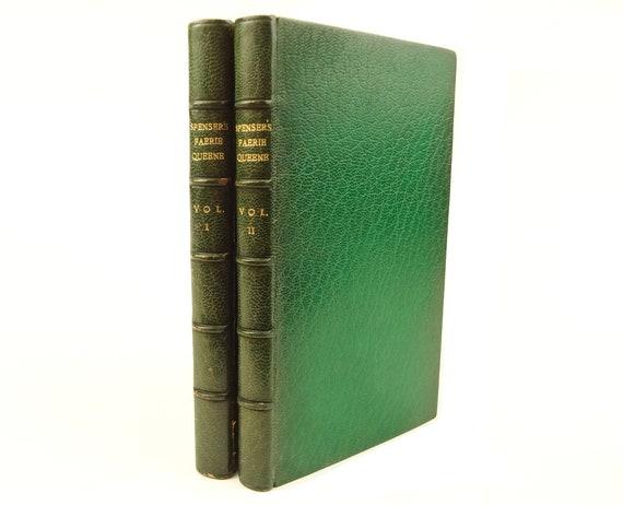 1905 The Faerie Queene, Edmund Spenser. Fine binding (signed). Two volumes.
