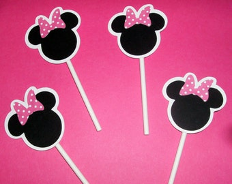 Mickey and Minnie Cupcake toppers (234C)