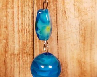 Light Blue Glass Earrings