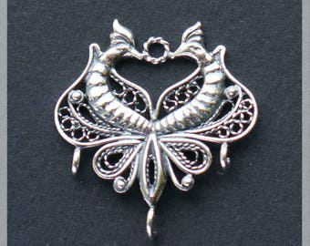 Sterling Silver  Pendant, Silver Charm, Silver Jewelry Findings, Jewelry Components, Jewelry Making, Silver Supplies