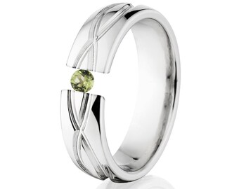 Tension Set Ring, 6mm, Uniquely You, Infinity, Peridot, 6HR-T8-Infinity