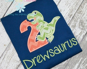 Dinosaur Birthday Shirt, Dino Birthday Shirt, Dino Shirt, Dinosaur Shirt, Dinosaur Number Shirt, Birthday Shirt