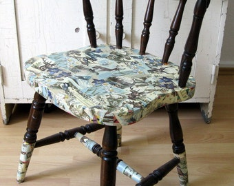 Vintage Chair upcycling funny motif