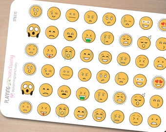 Smileys || Emoticons Planner Stickers Perfect for Erin Condren, Kikki K, Filofax and all other Planners