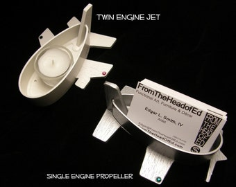 Mini Strut Cut - General Aviation Aircraft Strut Business Card Holder or Candy Dish