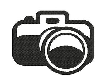 Camera  Machine Embroidery Design in 2 sizes * NEW*