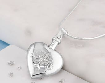 Silver memorial DIY Tree of life Urn necklace