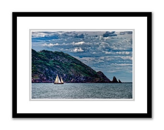 Out to Sea -- by James Ribniker -- Framed Giclee on paper