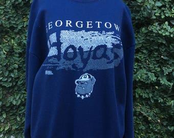 Navy Blue Georgetown Hoyas Sweatshirt