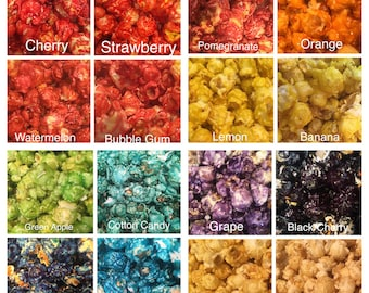 Sample Popcorn before you order- 3 flavors to sample- pick your flavors