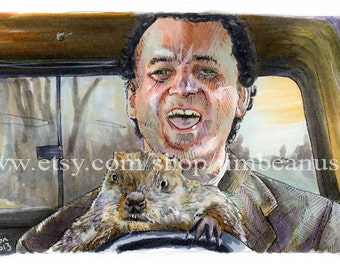 Groundhog Day - Don't Drive Angry Poster Print