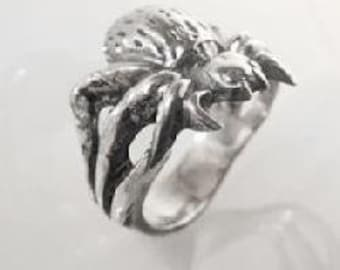 Solid Sterling Silver (92.5) Spider Ring
