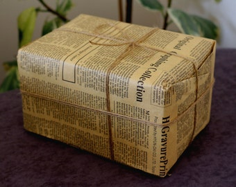 Retro English Newspaper Wrapping Packaging Kraft Paper For Gifts Shabby Chic