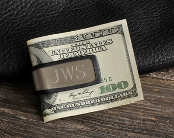 Personalized Sporty Fit Money Clip - Groomsmen Gift Idea - Personalized Money Clip - Groomsmen Gifts - Monogrammed Money Clip - GC830