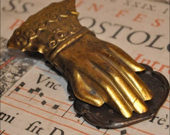 Genuine Vintage Victorian Brass Hand Bill or Letter Clip --  Free Shipping!