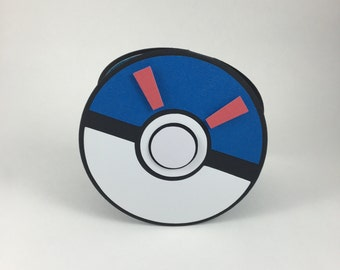 Invitations, Great Ball Shaped Birthday Party Invitation set of 10 for your Pokemon Go Event