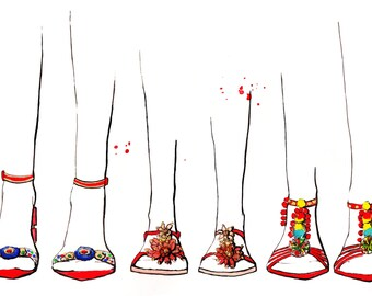 Dolce and Gabbana SS16 Art Print Fashion Illustration, Fashion Sketch, Fashion Art, Watercolour Illustration
