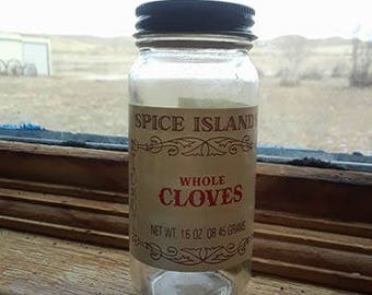 Vintage Cloves Jar
