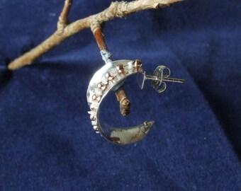 Pink Diamond Anticlastic Sterling Silver Earrings