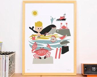 Art Print 'Beach' A3