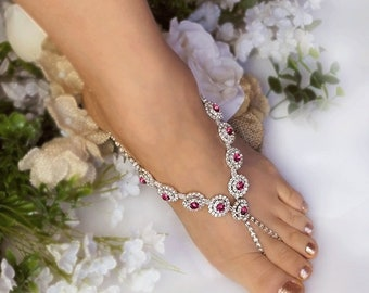Bridal foot jewelry Etsy