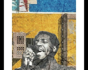 Oh Otis - Otis Redding - Print from original collage