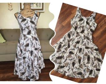 SeaShell 50s tiki  novelty print dress