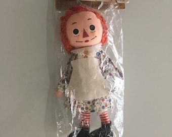 Raggedy Ann Cloth Doll/Raggedy Ann Doll/ Raggedy Andy Doll /Bend-Em Cloth Doll/Mid Century Knickerbocker/ Volland/Rag Doll/ By Gatormom13