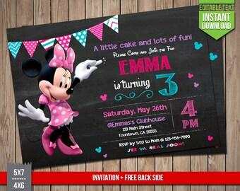 DISNEY MICKEY Invitation Mickey Mouse Invite Editable Text