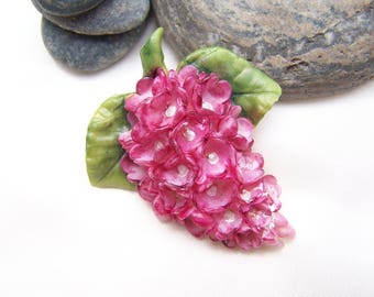 Pink lilac flower cold porcelain