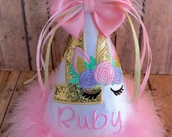 Unicorn Cake Smash, Unicorn Birthday Hat, Unicorn 1st Birthday, Unicorn Birthday Hat, Unicorn 2nd Birthday, First Birthday Hat, 1st Birthday