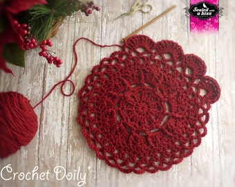 PATTERN  Celtic Flower Doily, Photo Prop or Decoration Crochet Pattern (INSTANT DOWNLOAD)