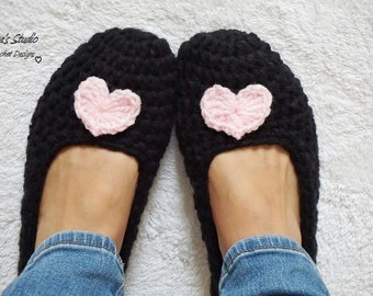 Adult Slippers Crochet Pattern PDF,Easy, Great for Beginners, Shoes Crochet Pattern Slippers,  Pattern No. 96