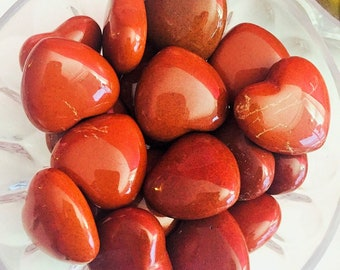 Red Jasper Heart Crystal, Healing Crystals and Stones