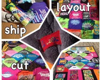 Custom T-Shirt Blanket T-shirt Blanket - Memory Blanket - Custom T-shirt Blanket - T Shirt Quilt -Tshirt Blanket - Graduation Gift