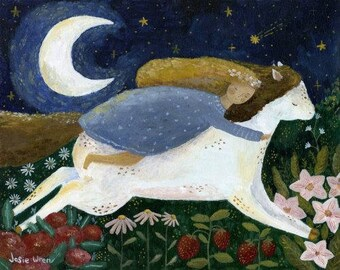 Dreaming fairy tale fine art print