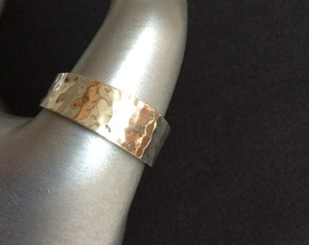 Sterling Silver Hammered Band Ring, Various Sizes