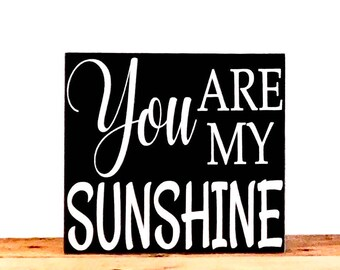 You Are My Sunshine Sign, Baby Room Decor Wood Wall Art, Woodland Nursery Gift Idea, Nursery Wall Art, Gift Ideas For Women, Rustic Sign